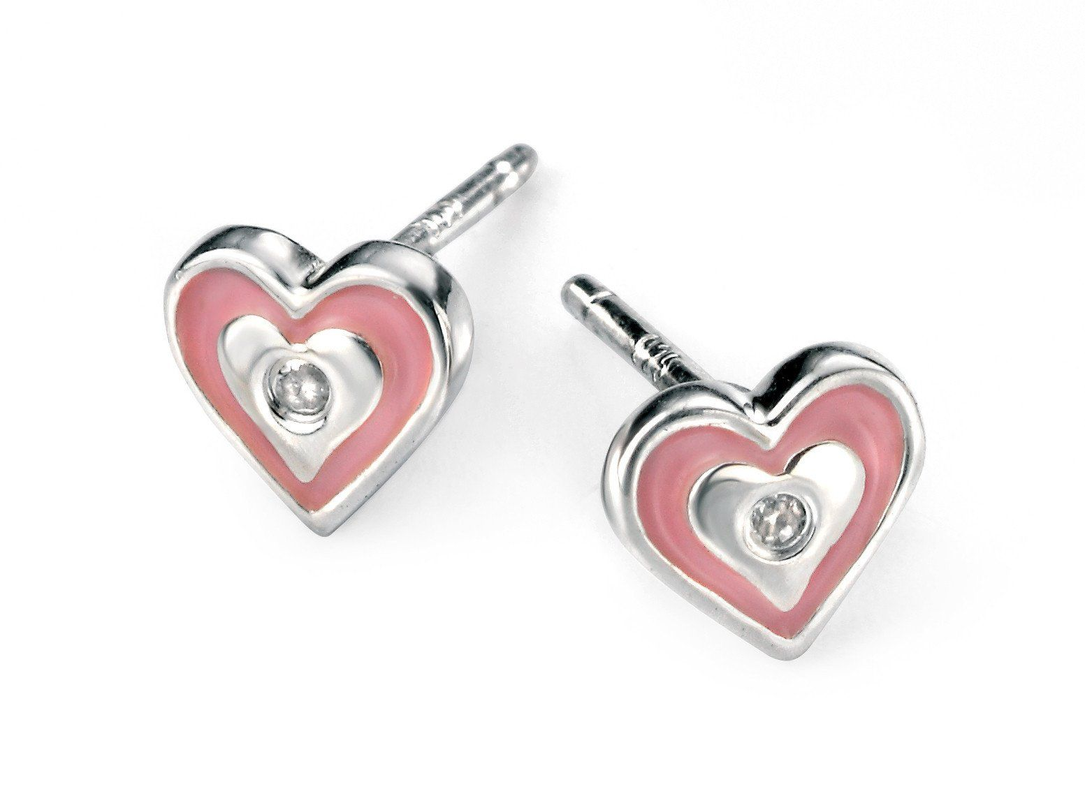 Childrens Sterling Silver Heart Stud Earrings SV4820E - Jay's Jewellery