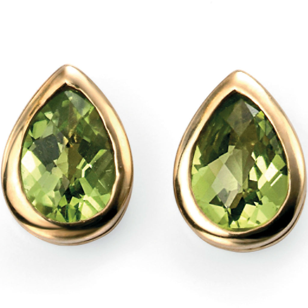 9ct Yellow Gold & Peridot Stud Earrings