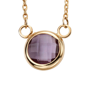 9ct Yellow Gold & Amethyst Pendant