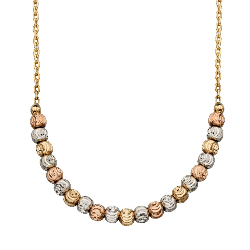 9ct Yellow, White & Rose Gold Necklace