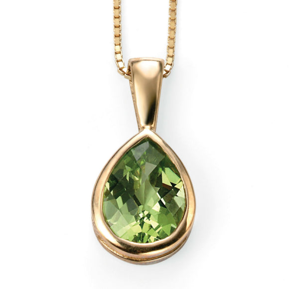 9ct Yellow Gold & Peridot Pendant