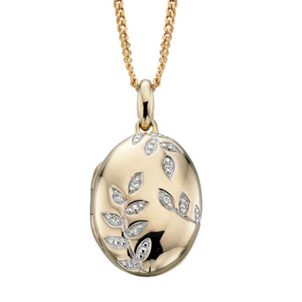 9ct Yellow Gold & Diamond Locket