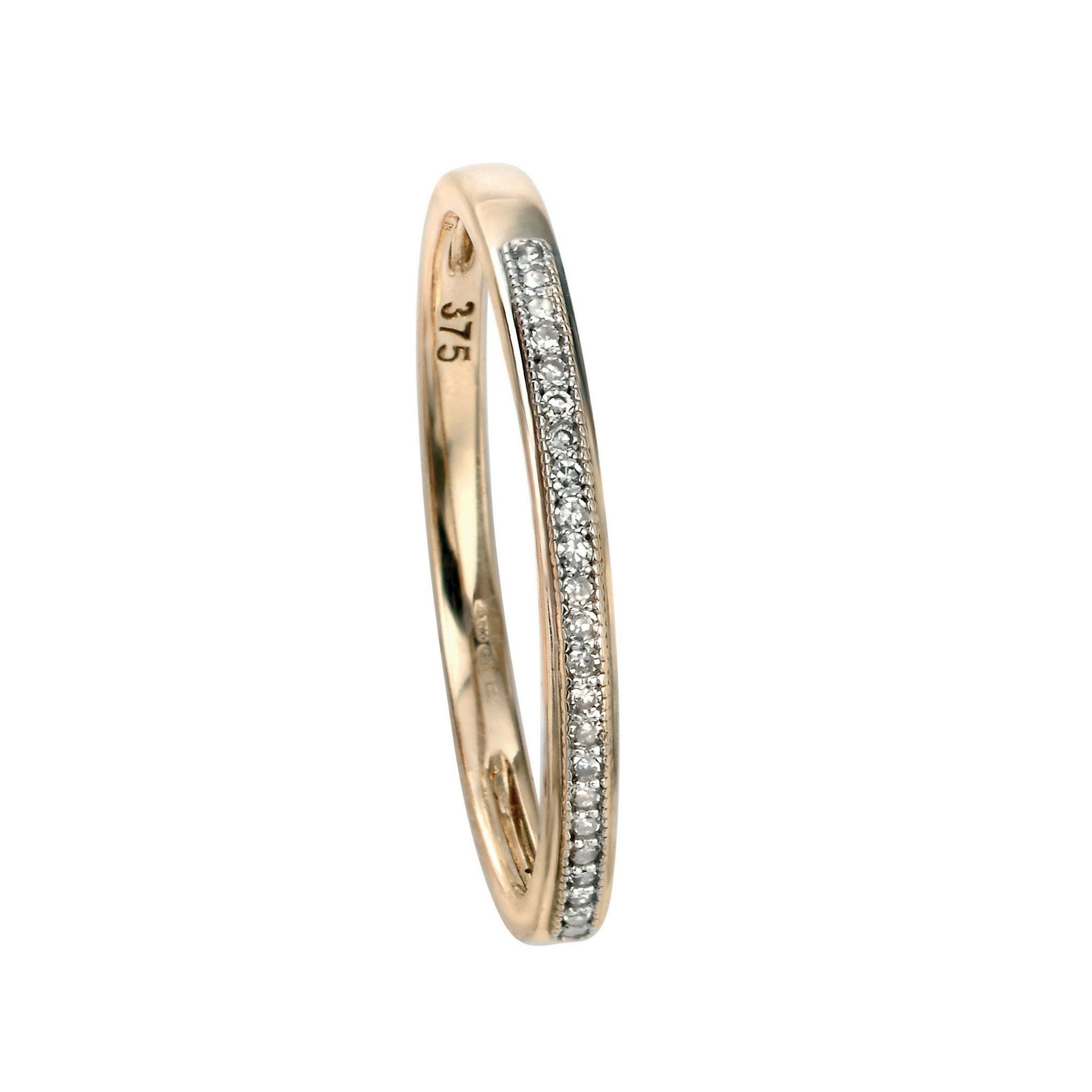 9ct Yellow Gold & Diamond Ring