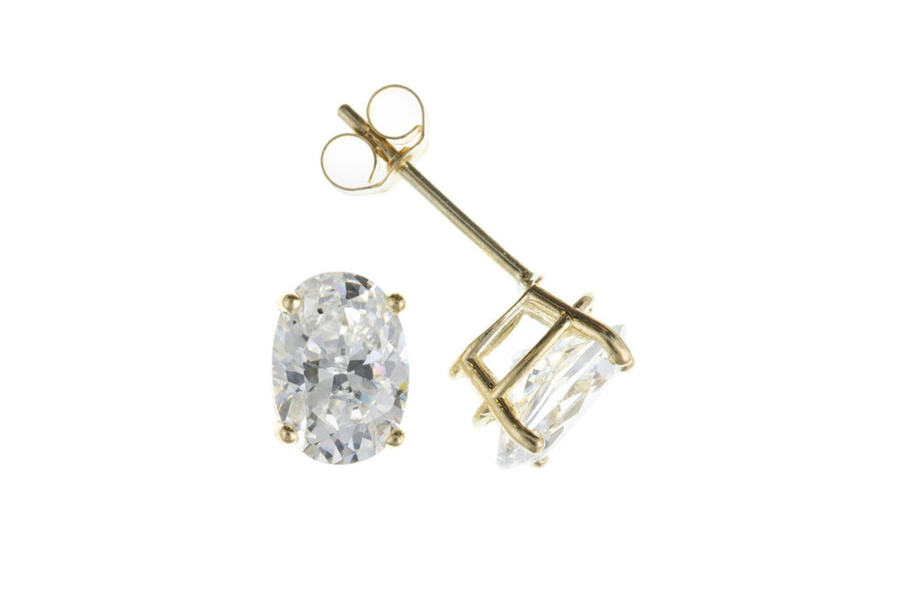 9ct Yellow Gold CZ Stud Earrings