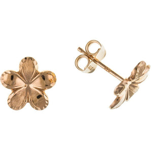 9ct Rose Gold Flower Stud Earrings 9R8010AP - Jay's Jewellery