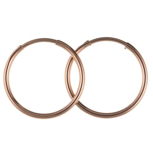 9ct Rose Gold Hoop Earrings 9R0018AQ - Jay's Jewellery