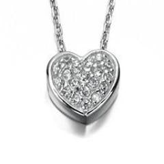 Sterling Silver Heart & Cubic Zirconia Pendant SV3232NC - Jay's Jewellery