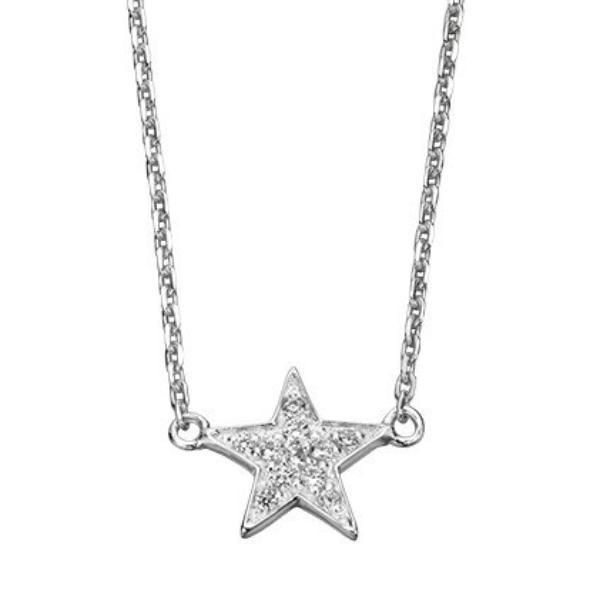 Sterling Silver Star Pendant SV3241NC - Jay's Jewellery