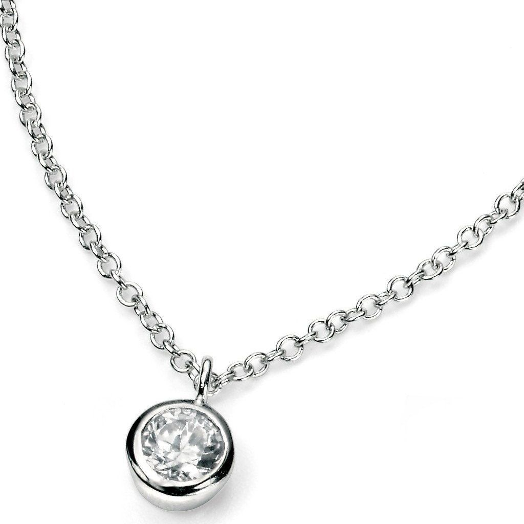Sterling Silver & Cubic Zirconia Pendant SV3397NC - Jay's Jewellery