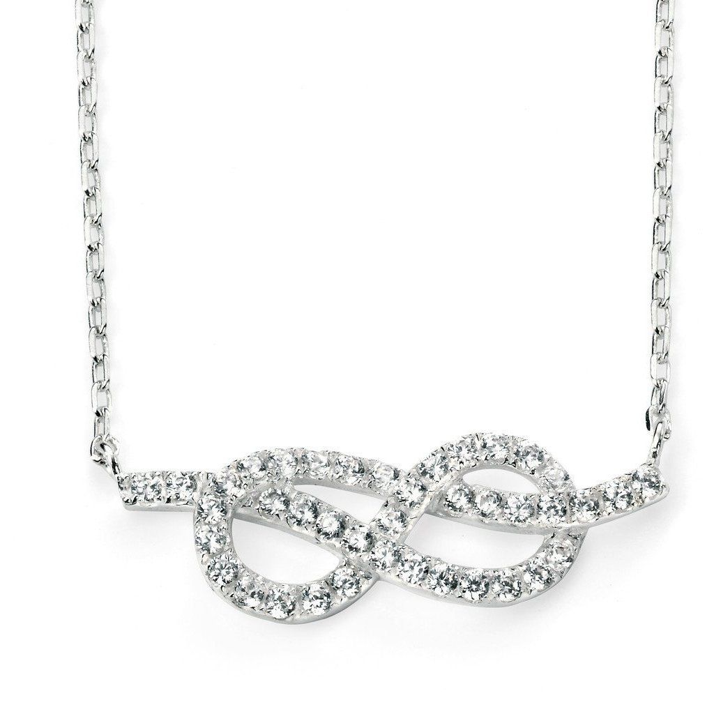 Sterling Silver Infinity Pendant SV3741NC - Jay's Jewellery