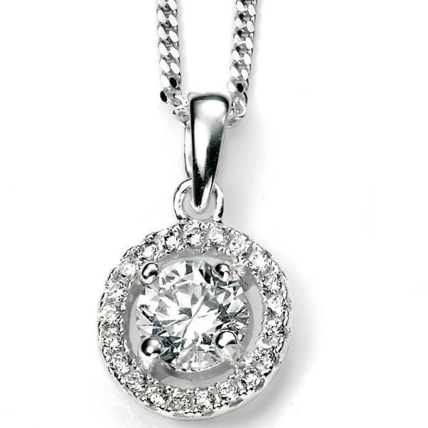Sterling Silver & Cubic Zirconia Pendant SV4158PC - Jay's Jewellery