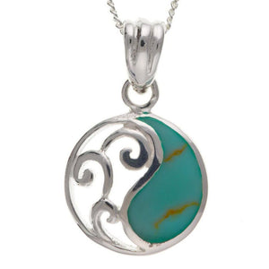 Sterling Silver & Turquoise Pendant SV0118BT - Jay's Jewellery