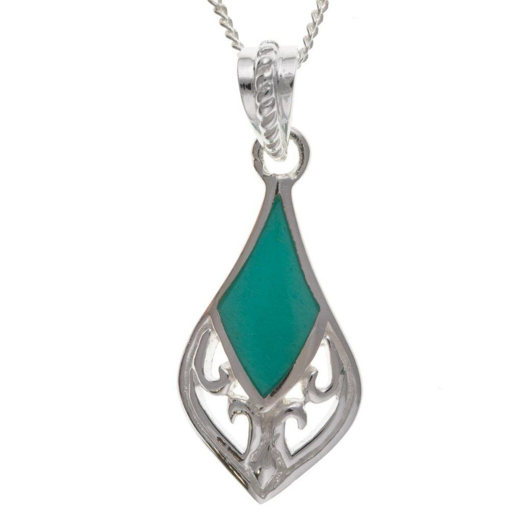 Sterling Silver & Turquoise Pendant SV0117BT - Jay's Jewellery