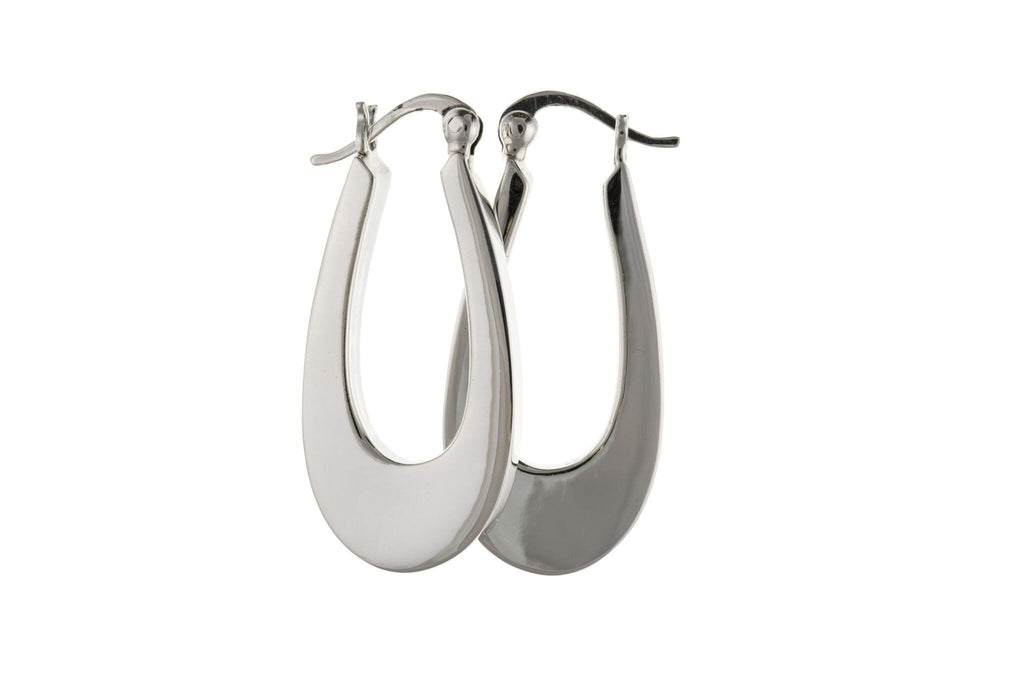 Silver Creole Earrings SV6536BP - Jay's Jewellery