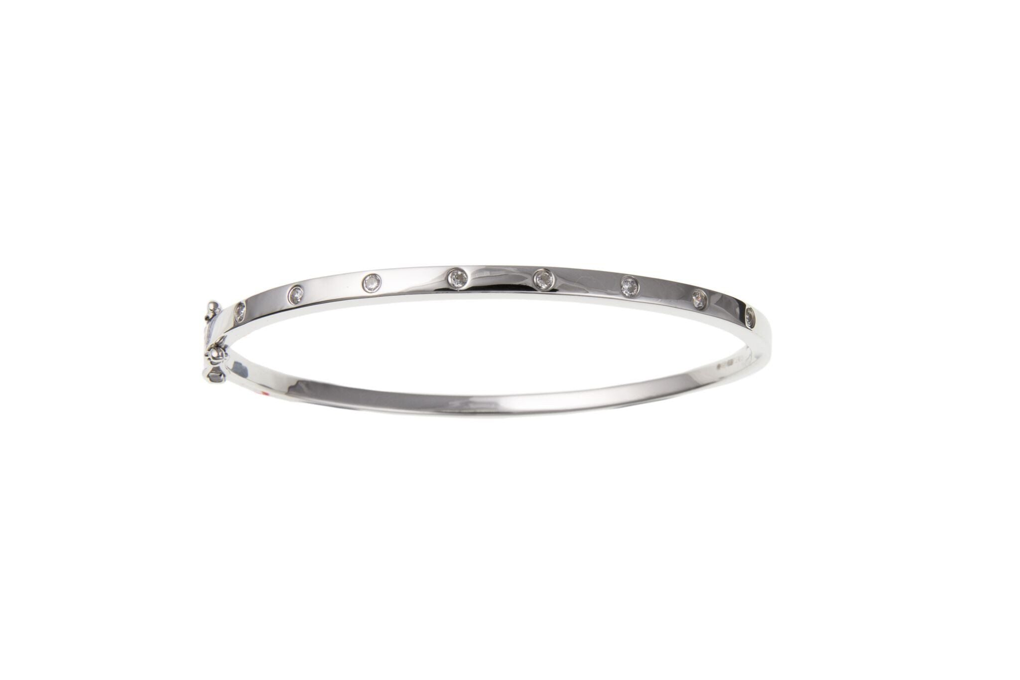 Silver CZ Bangle SV60307BN - Jay's Jewellery