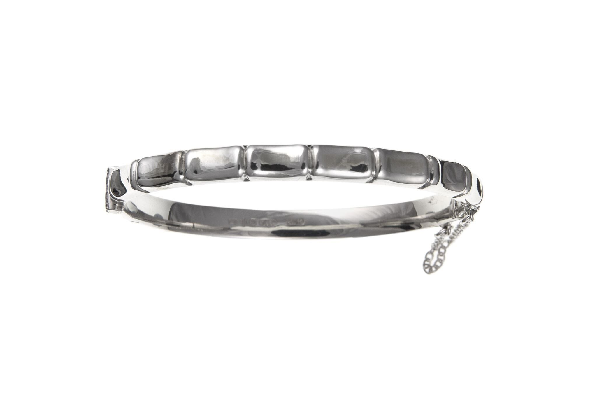 Silver Bamboo Bangle SV39007BN - Jay's Jewellery