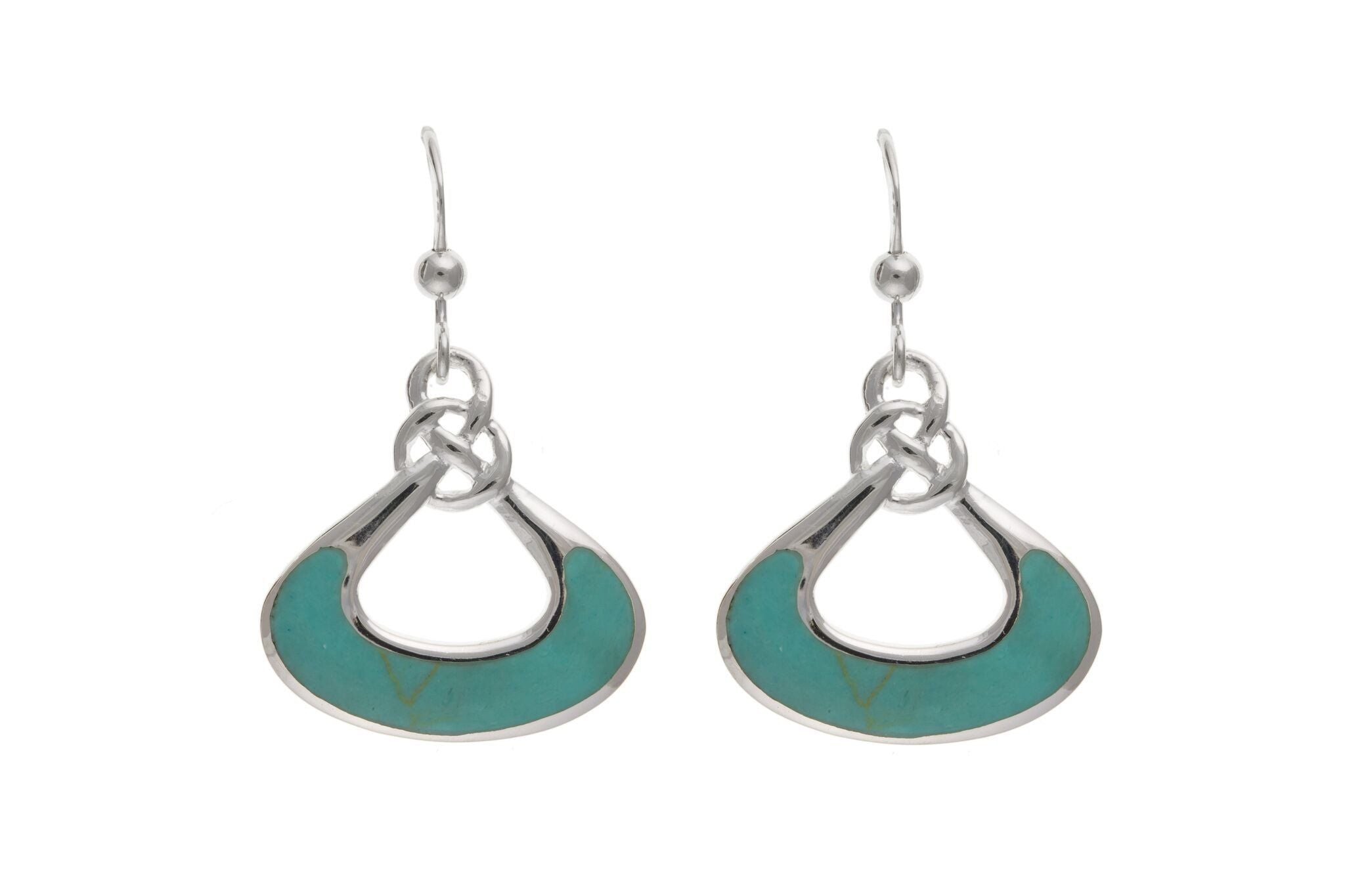 Sterling Silver & Turquoise Drop Earrings SV0478BP - Jay's Jewellery
