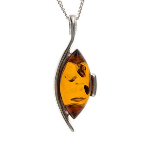 Sterling Silver & Amber Pendant SV4445BT - Jay's Jewellery