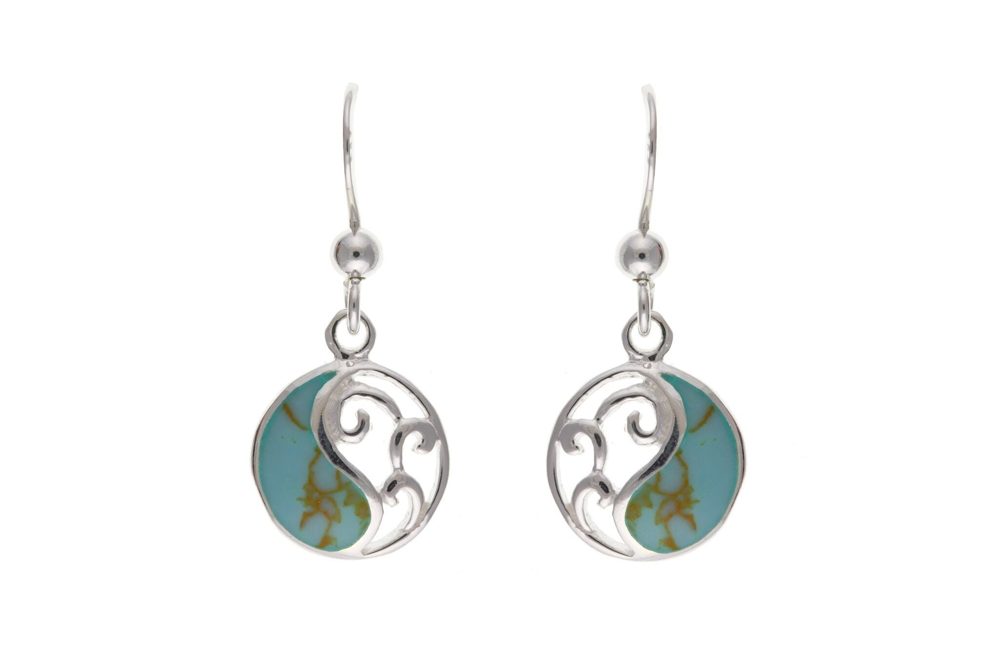 Sterling Silver & Turquoise Drop Earrings SV0282BP - Jay's Jewellery