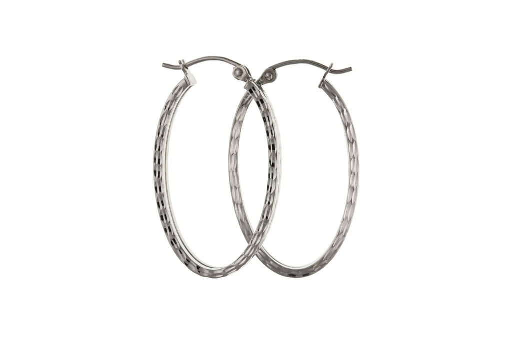 Silver Creole Earrings SV0225BP - Jay's Jewellery