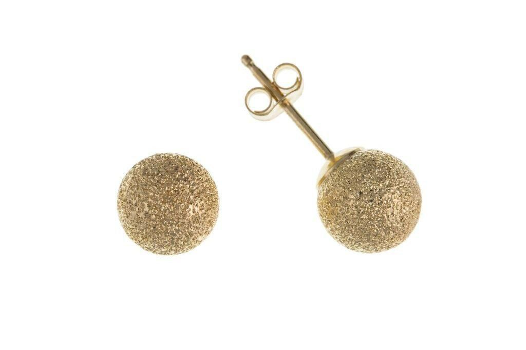 9ct Yellow Gold Yellow Ball Stud Earrings