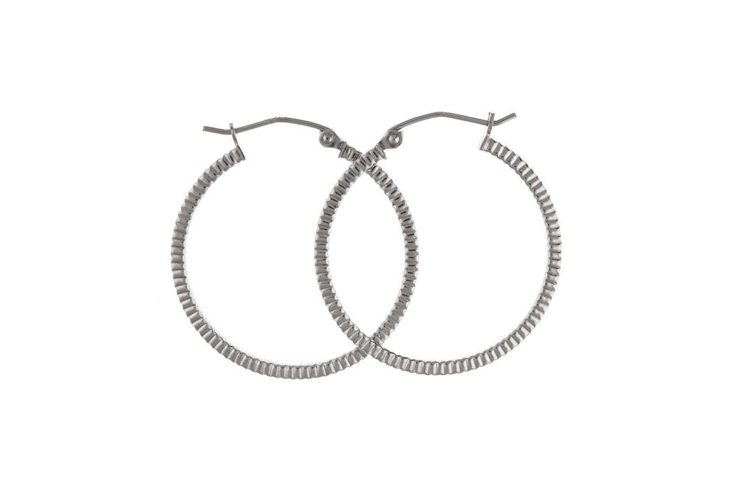 Silver Creole Earrings SV0232BP - Jay's Jewellery