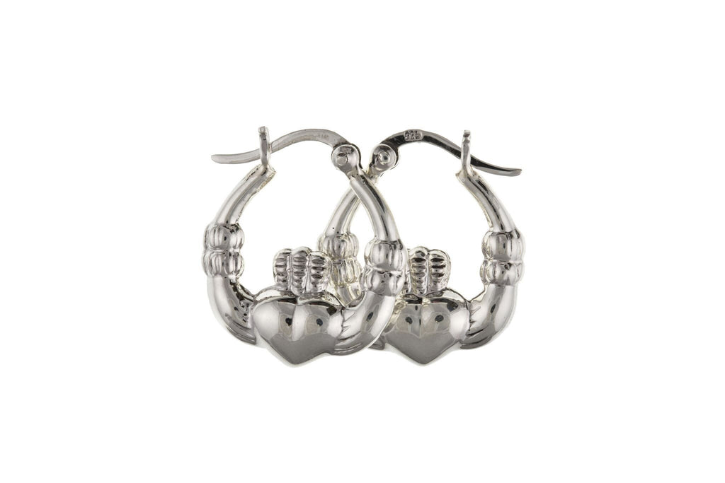 Silver Claddagh Earrings SV0210BP - Jay's Jewellery