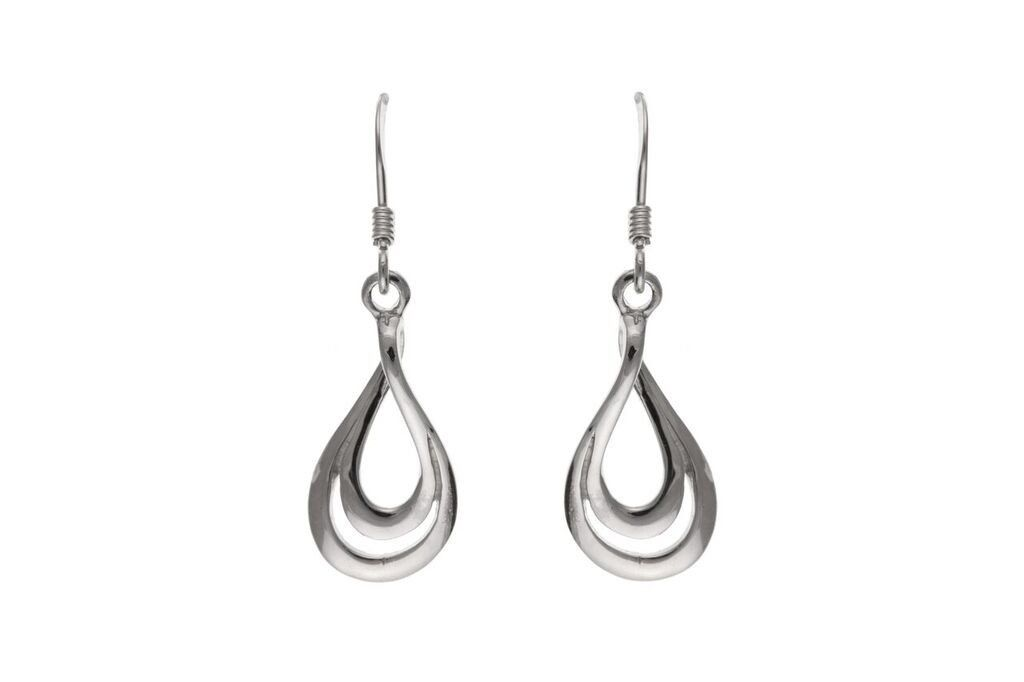 Silver Drop Earrings SV1797BP - Jay's Jewellery