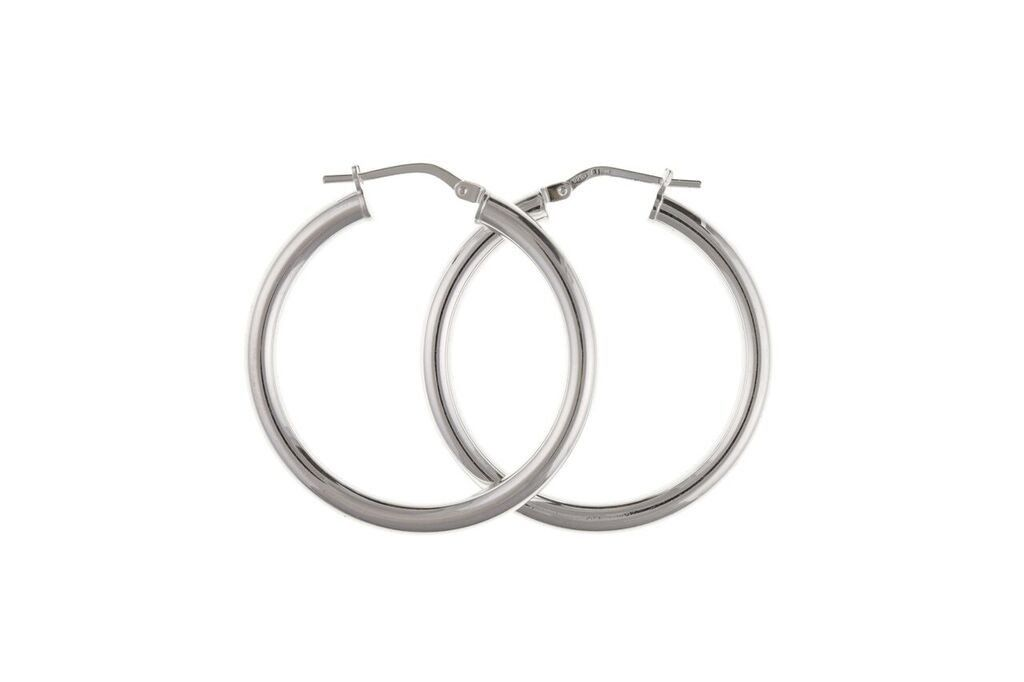 Silver Creole Earrings SV0471BP - Jay's Jewellery