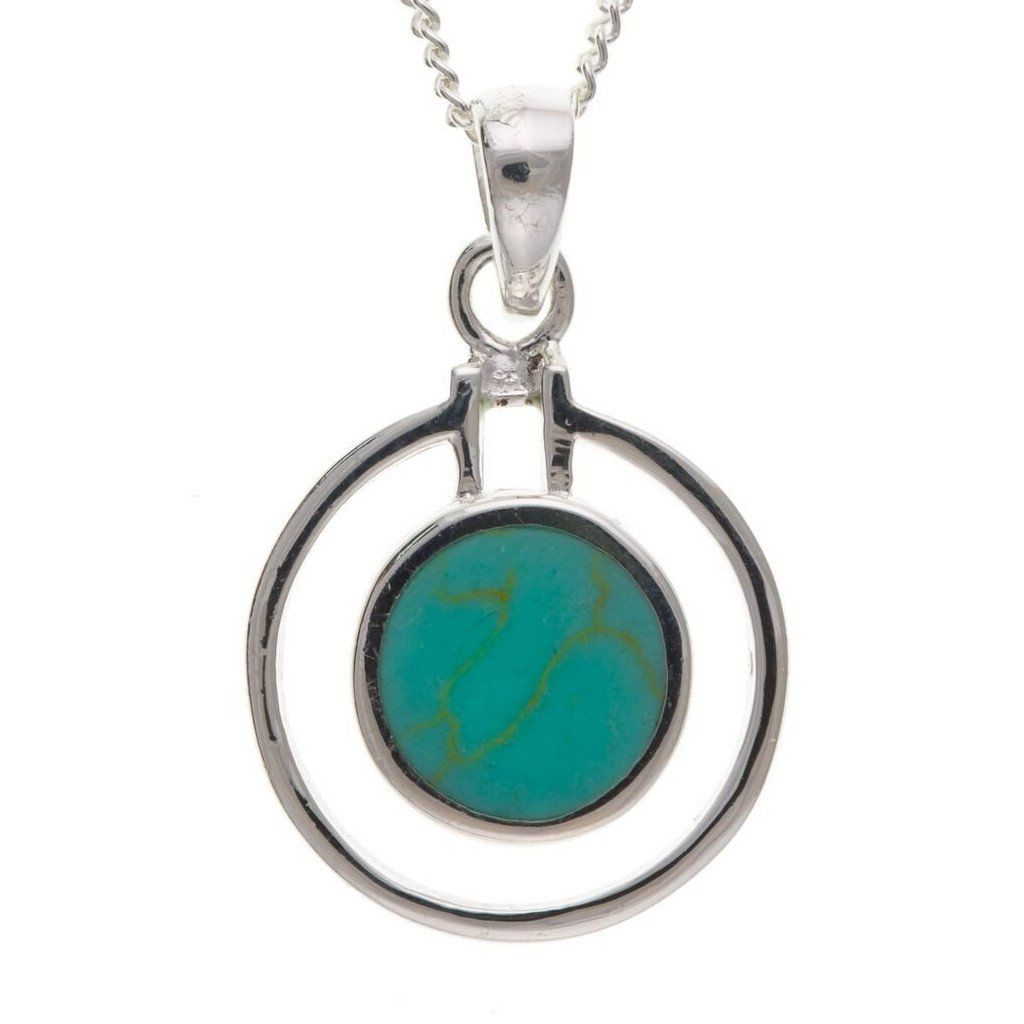 Sterling Silver & Turquoise Pendant SV4773BT - Jay's Jewellery