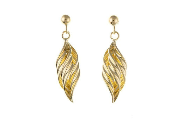9ct Yellow Gold Drop Earrings 9Y6895AP - Jay's Jewellery