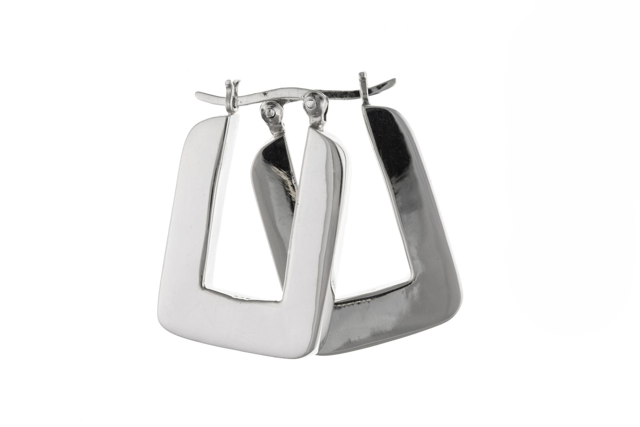 Silver Creole Earrings SV6537BP - Jay's Jewellery