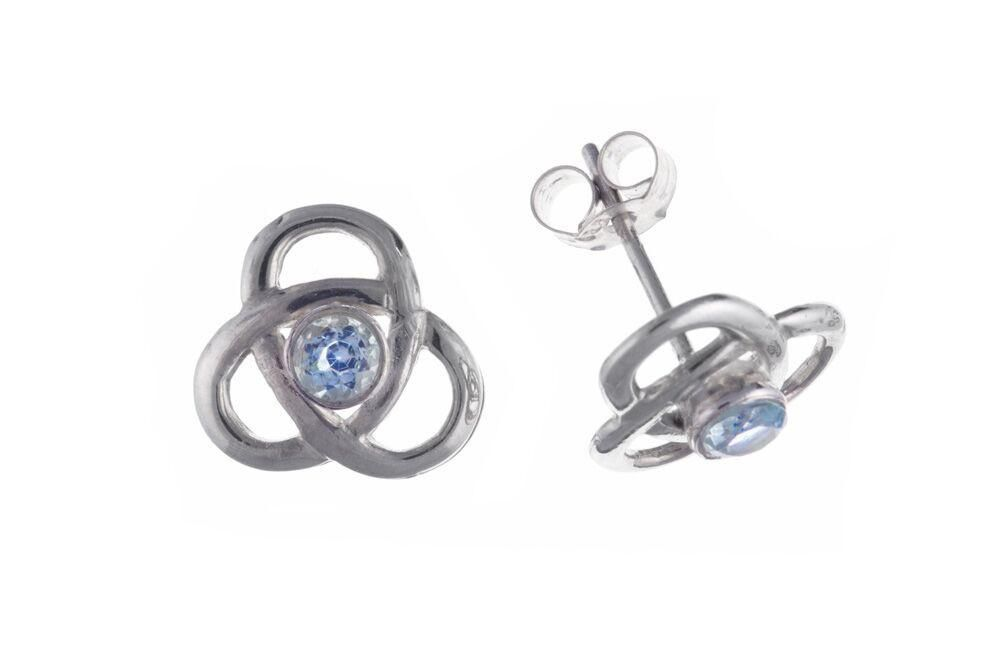 Sterling Silver & Blue Topaz Stud Earrings SV0293BP - Jay's Jewellery