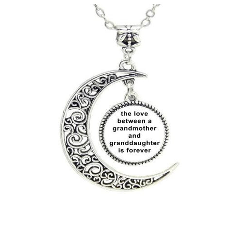 Mom and daughter moon pendant necklace for mother and daughter my mom and daughter moon pendant necklace for mother and daughter aloadofball Choice Image