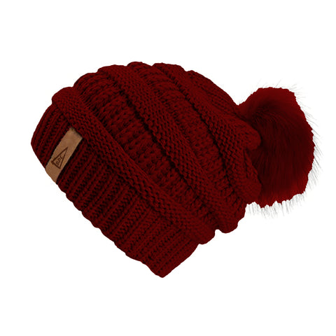 Copy of Copy of The Crew Pom Pom Hat-Red