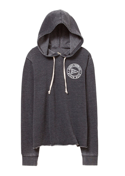Always Forward Never Back Relaxed Ladies' Hoodie-Washed Black