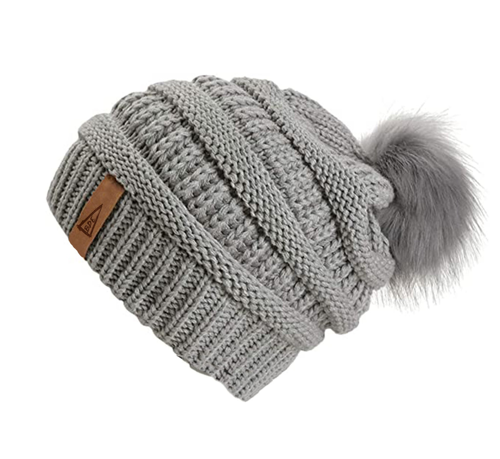 The Crew Pom Pom Hat-Grey