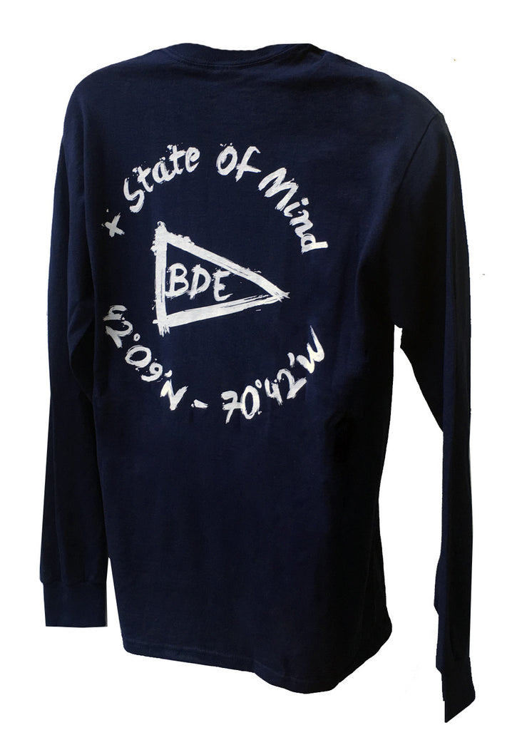The Essential Cotton Navy Blue Long T