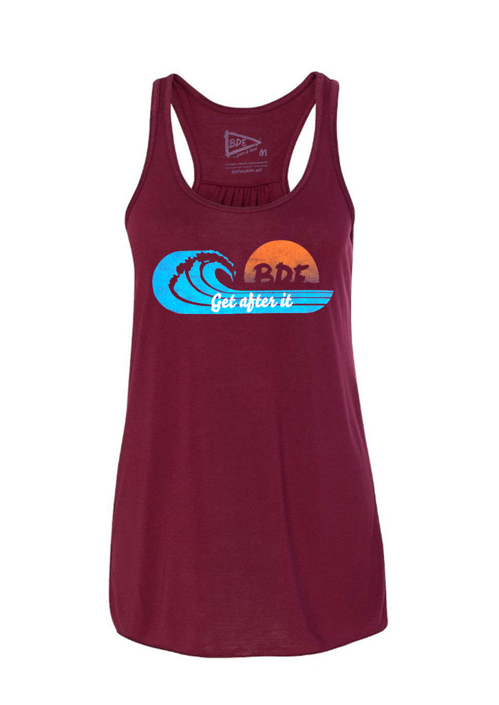 Sunset Wave Racerback Tank