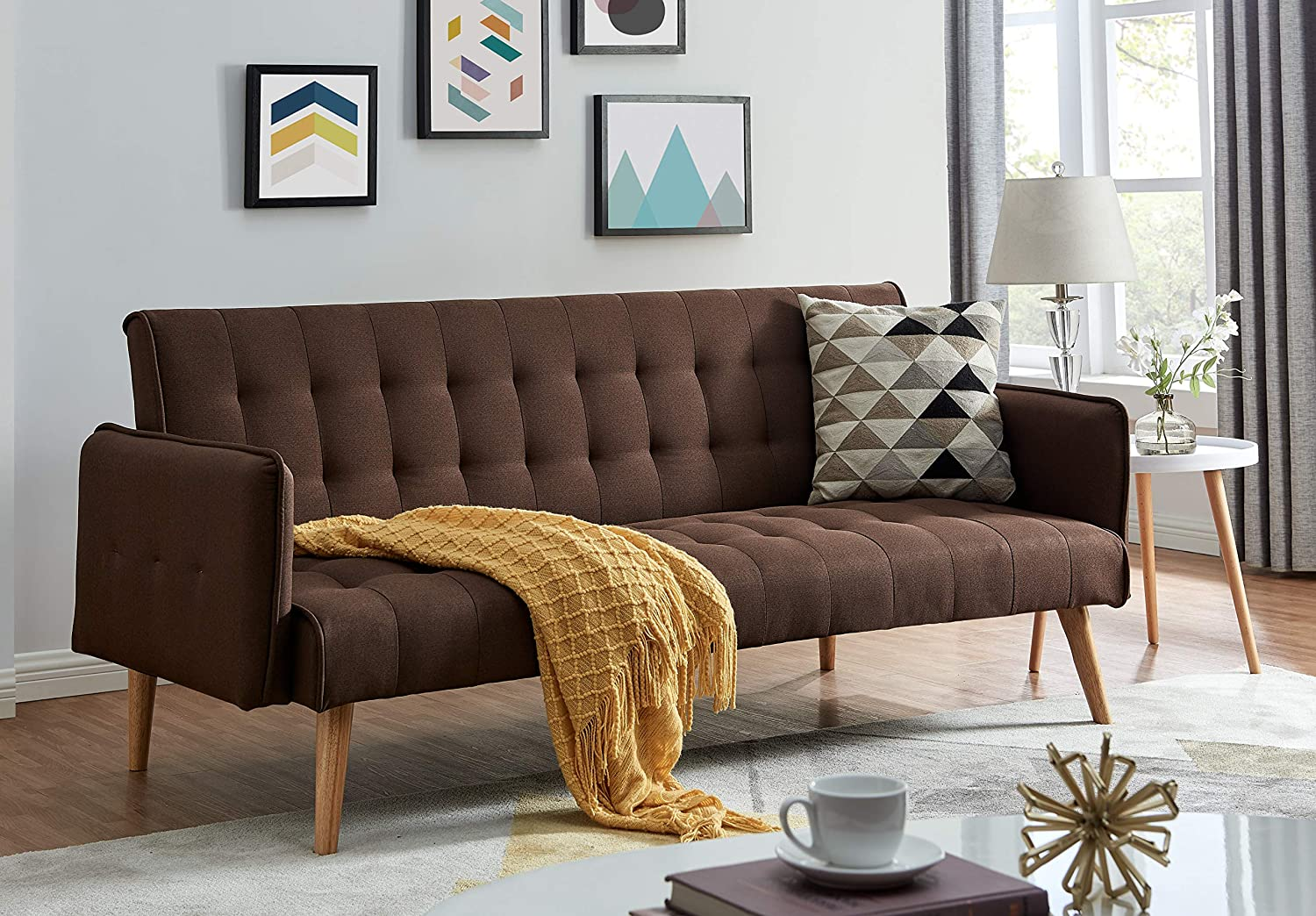Scandi Modern Chocolate 3 Seater Sofa