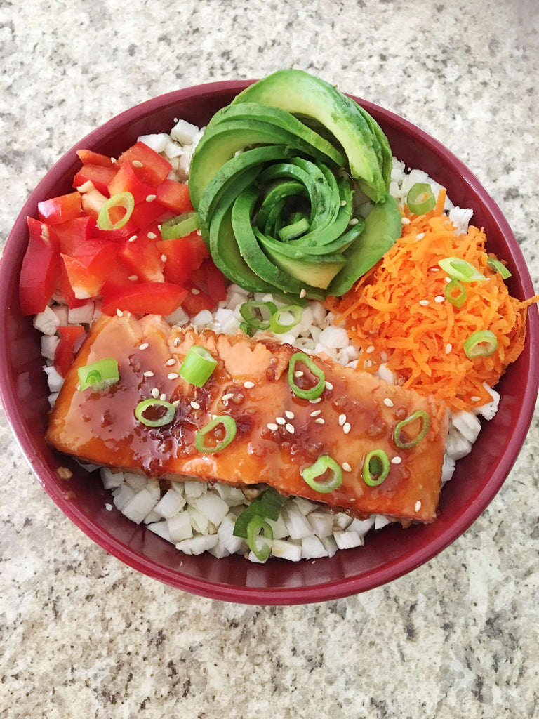 Fat Fueled Recipe: Teriyaki Salmon Rice Bowl