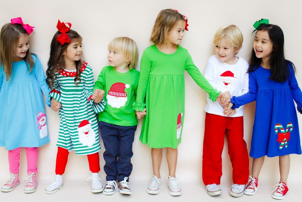 Kids Holiday Applique Dresses