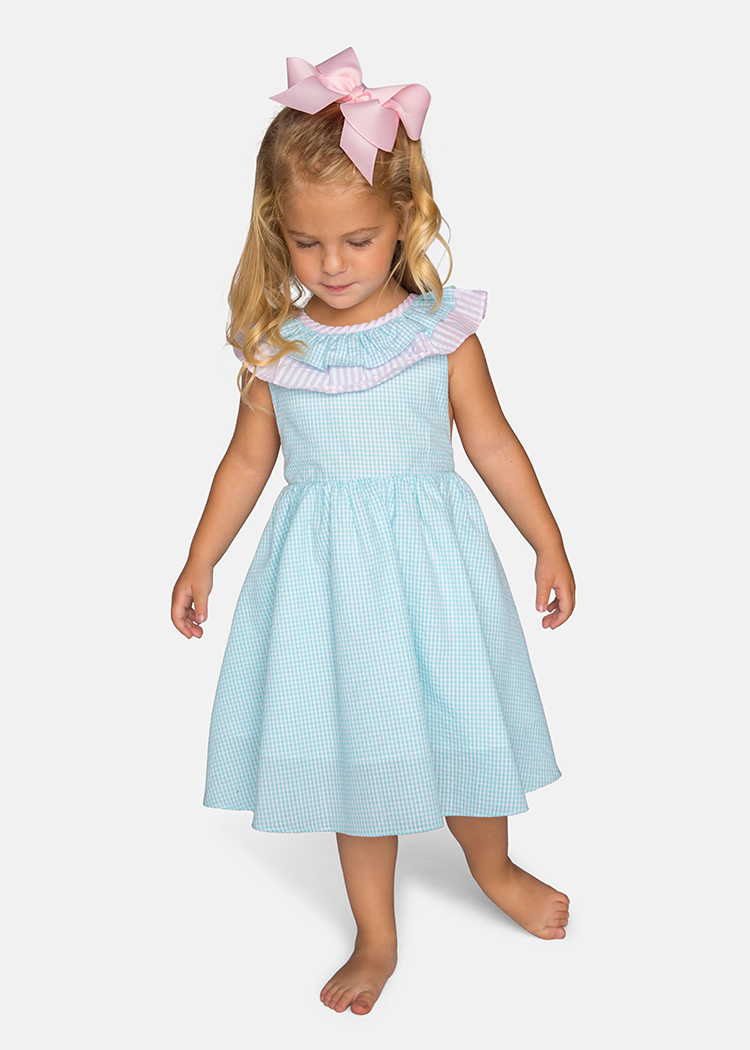 Girl's Seersucker Easter Dress