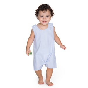 Boy's Light Blue Seersucker Shortall