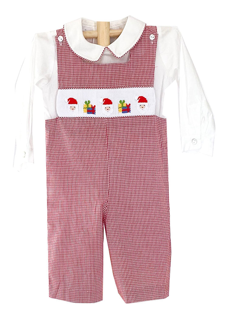 Applique Fire Truck Boy's Romper