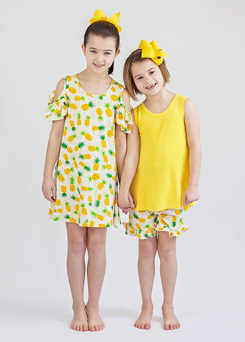 Girl's Summer Pineapples Dress