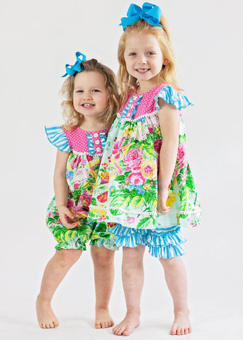 Girl's Summer Garden Short Set