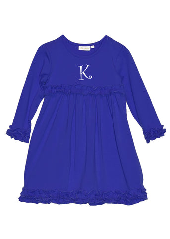 Girl's Royal Blue Knit Dress
