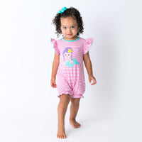 21S20 Applique Mermaid Girl's Bubble