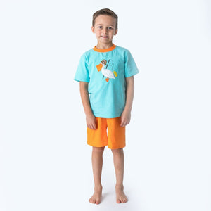 Applique Pelican Boy's Short Set